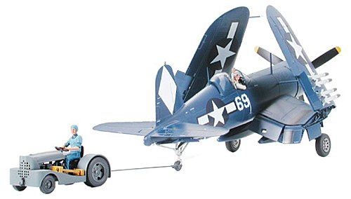 Tamiya Vought F4U-1D Corsair With Moto-Tug - 1:48 Scale plastic model kit