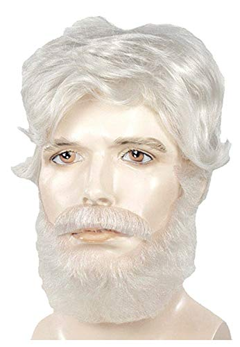 King Lear Wig and Beard Set White
