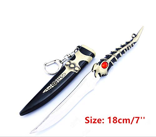 Game of Thrones 1/6 18 cm /7 ''Little Finger Valyrian Steel Dagger Sword Weapon Metal Model Action Figure Arts Toys Collection Keychain Gift Backpack Pendant Party Supplies Desk Room Shelf Decoration