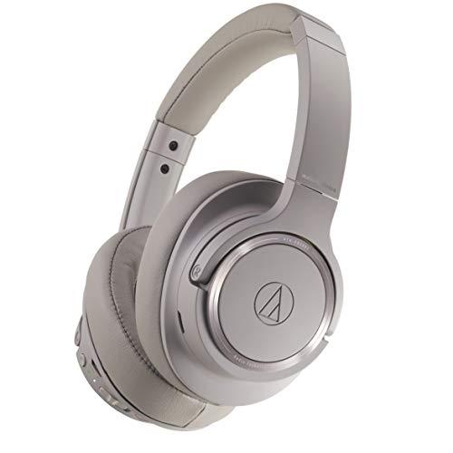 Audio-Technica ATH-SR50BT Bluetooth Wireless Over-Ear Headphones, Brown-gray