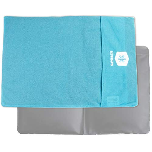 IceWraps Ice Pack Cover for Standard Size Cold Pack Sleeve Keeps Pack Clean and Skin Protected, Reusable, Washable - Blue Fabric Cover Only