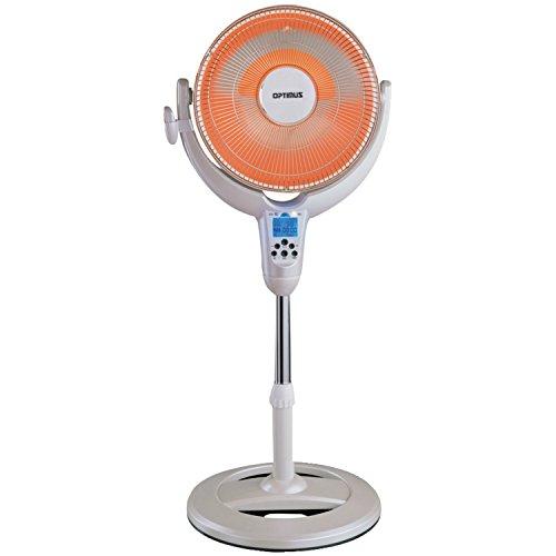 Optimus H-4500 14-Inch Oscillating Pedestal Digital Dish Heater with Remote