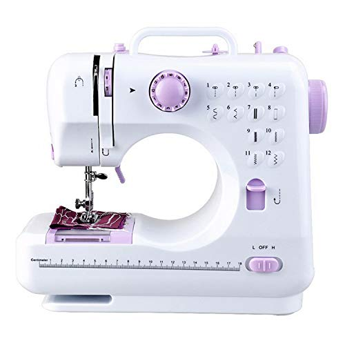 Sewing Machine Handheld Protable Elactric Sewing Machine with Built-in 12 Floral Stitches 2 Speeds and Foot Pedal Tailor Tool for Beginners Mini Multi-Function Lightweight Sewing Machine
