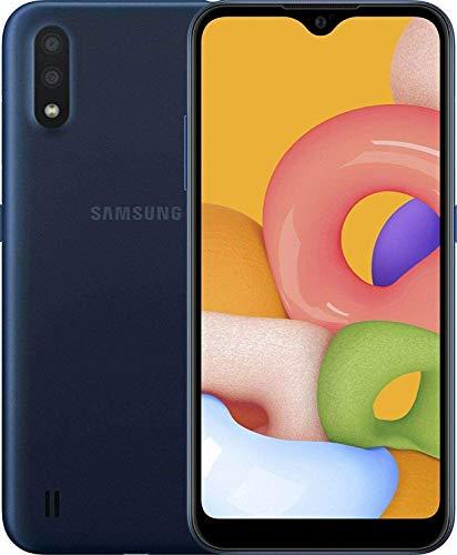 "Samsung Galaxy A01 (A015M) 16GB, Dual SIM, GSM Unlocked, 5.7"" Display Smartphone - International Version - Blue"