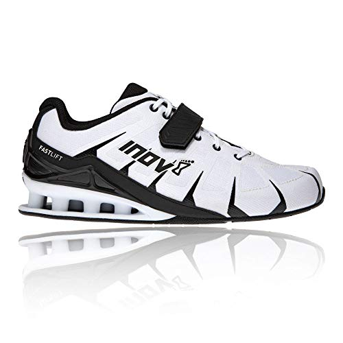 Inov-8 Men's Fastlift 360 – Weight Lifting & Powerlifting Shoes - Men's Squat Shoes - White/Black - 8