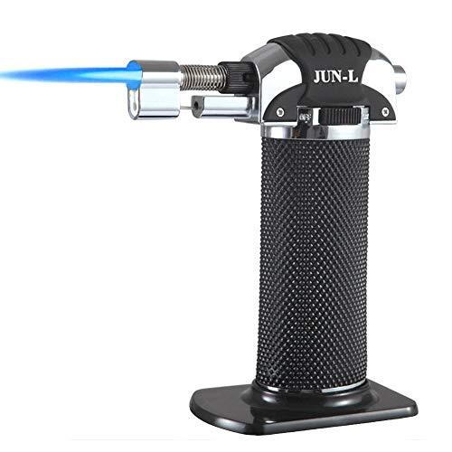 JUN-L Metal Flame Gun Welding Gas Torch Lighter Heating Lgnition Butane Portable Camping Welding Gas Torch for crème brûlée Outdoor BBQ