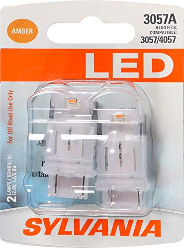 SYLVANIA - 3057 LED Amber Mini Bulb - Bright LED Bulb, Ideal for Park and Turn Lights (Contains 2 Bulbs)