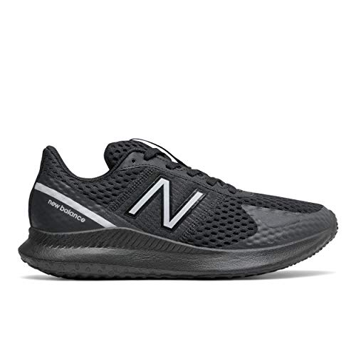 New Balance Women's Vatu V1 Running Shoe, Black/White, 12 W US