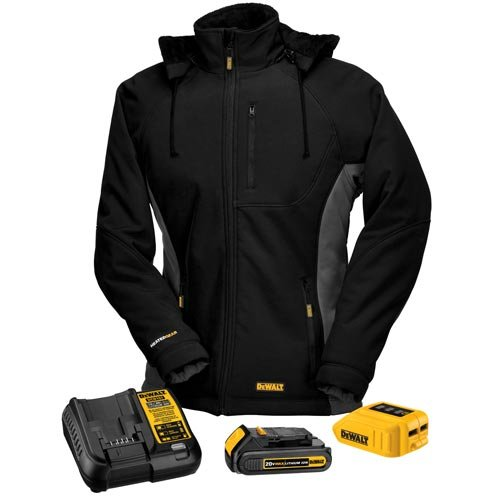 DEWALT DCHJ066C1-M 20V/12V MAX Women's Heated Jacket Kit, Black, Medium