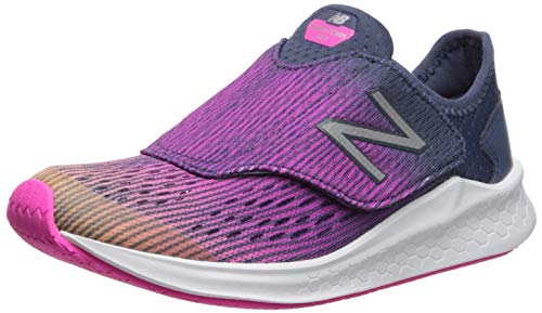 New Balance Kid's Fresh Foam Fast V1 Running Shoe, LIGHT MANGO/PEONY/VINTAGE INDIGO, 2 M US Little Kid