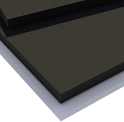 Expanded PVC Sheet – Lightweight Rigid Foam – 3mm (1/8 Inch) – 24 x 48 Inches – Black – Ideal for Signage, Displays, and Digital/Screen Printing