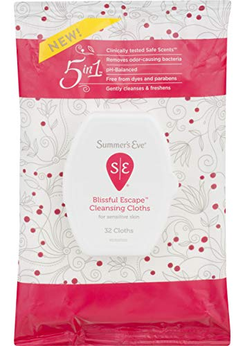Summer's Eve Cleansing Cloths, Blissful Escape, 32 Count