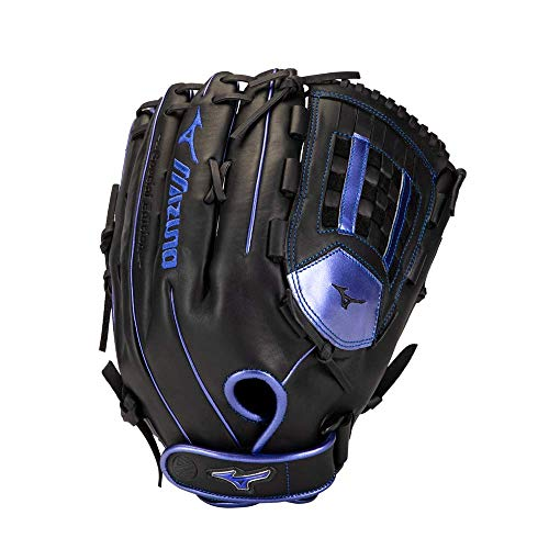 Mizuno GMVP1400PSES8 MVP Prime SE Slowpitch Softball Glove 14', Right Hand Throw, BLACK-ROYAL