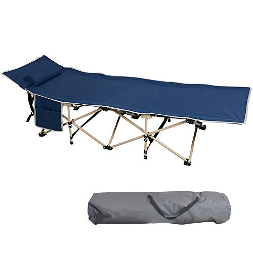 LUCKYERMORE Camping Cot Folding Camp Bed Outdoor Sleeping Cots