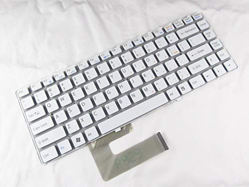 Keyboard for Sony VGN-NW150J (pcg-7173L) VGN-NW150J/S White + Clear Protector Cover