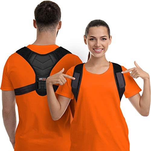 Posture Corrector for Men and Women, Upper Back Brace for Clavicle Support, Adjustable Back Straightener and Providing Pain Relief from Neck, Back & Shoulder, (Universal) (F4 Posture Corrector, Regular)