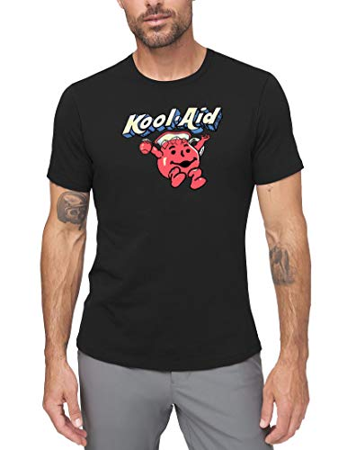 SHICHUOU Men's Kool Aid Old Logo Short Sleeve Classic T Shirt Black XX-Large