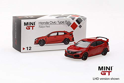 2017 Honda Civic Type R (FK8) (LHD) Rallye Red Limited Edition to 6,000 Pieces Worldwide 1/64 Diecast Model Car by MINI GT MGT00012