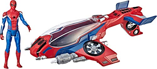 Spider-Man, Far From Home Spider-Jet with – Vehicle Toy & 6' -Scale Action Figure