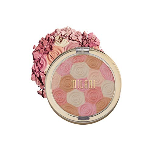 Milani Illuminating Face Powder - Beauty's Touch (0.35 Ounce) Cruelty-Free Highlighter, Blush & Bronzer in One Compact to Shape, Contour & Highlight