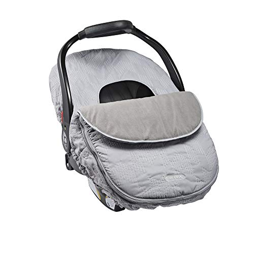 JJ Cole Weather-Resistant Blanket-Style Canopy Car Seat Cover, Grey Herringbone