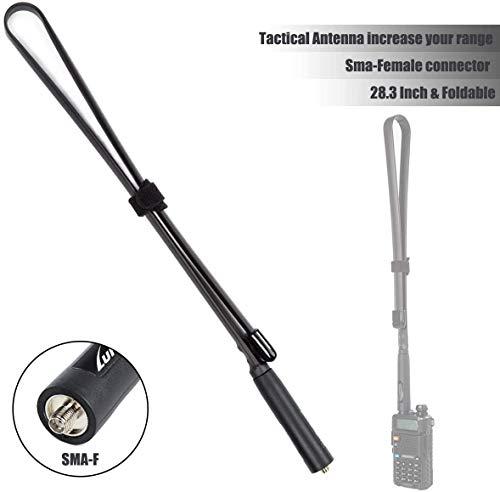 Tactical Walkie Talkie Antenna 72cm SMA-Female Connector Dual Band VHF UHF 144/430Mhz Antenna for UV-5R, UV-82, BF-F8HP, UV-5R V2+ Plus, BF-F9 V2+ Two Way Radio