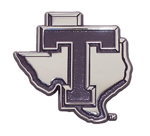Tarleton State Texans Metal Chrome Emblem w/Purple Trim