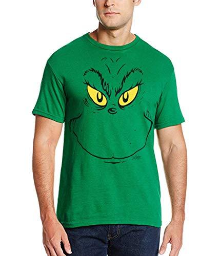 Dr. Suess Grinch Face T-Shirt-Large