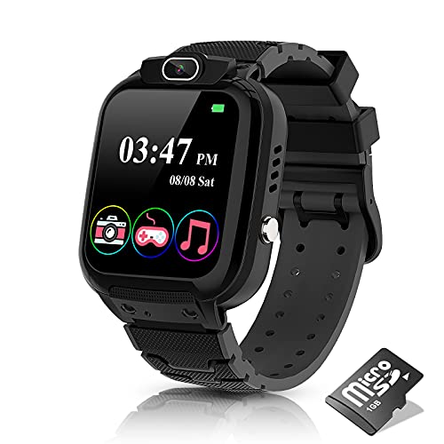 Kids Smart Watch for Boys Girls - Smart Watch for Kids with Camera MP3 Music Player 7 Games Video Player Recorder Calculator Alarm Clock Touch Screen Kids Watch Birthday Gifts Suitable for Aged 4-12