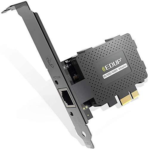 EDUP Gigabit Ethernet PCI Express PCI-E Network Card 10/100/1000Mbps RJ45 LAN Adapter Converter for Desktop PC