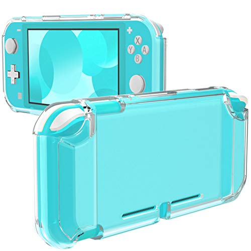 MoKo Cover Compatible with Nintendo Switch Lite, Protective Clear Grip Case TPU Shockproof Durable Frosted Shell Compatible with Nintendo Switch Lite Console - Clear