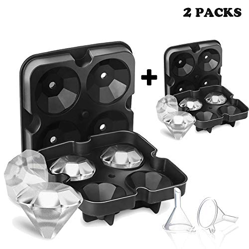 Oreamnos Diamond Ice Cube Mold Tray, Silicone Ice Cube Maker Molds for Cocktail, Whisky, Bourbon, Pudding,Cola etc.(2Pack)