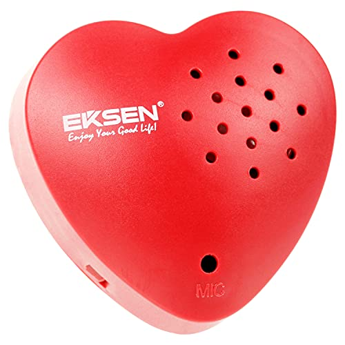 EKSEN Heart Voice Recorder, 30 Seconds Voice Recorder for Stuffed Animal, Plush Toy, etc. Kids Voice Recorder, Sound Box for Voice Gifts. (Red - 1 Pack)