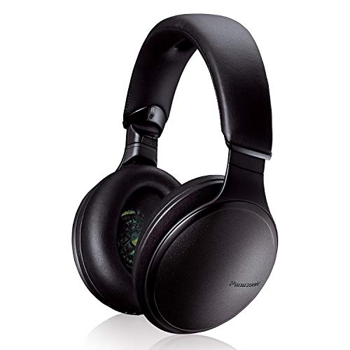 Panasonic Noise Cancelling Over The Ear Headphones with Wireless Bluetooth, Alexa Voice Control & Other Assistants – Black (RP-HD805N-K)