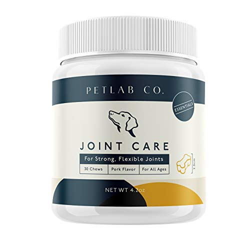 Petlab Co. Joint Care Chews for Dogs | PackedEssential Vitamins to Promote Dog Hip and Joint Health |Glucosamine, Fish Oil Omega-3 Fatty Acids, Calcium Fluoroborate, Turmeric
