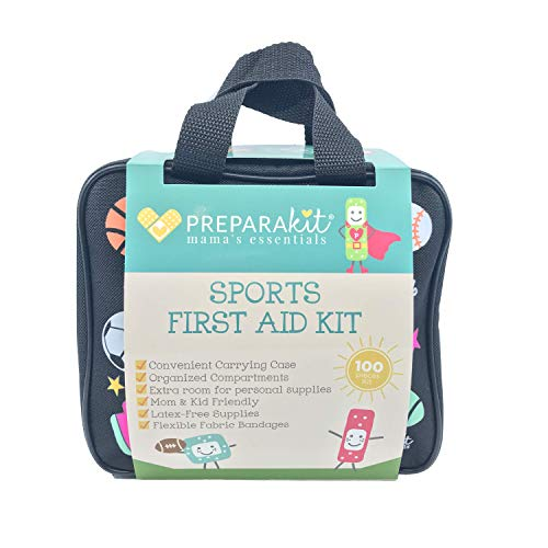 PreparaKit Travel First Aid Kit for Sports and Survival Kit for Mom! Compact Kit with 100 Essentials to fit Bag or Backpack, Car, Home.