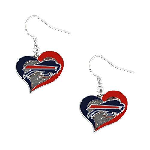 NFL Buffalo Bills Swirl Heart Earrings