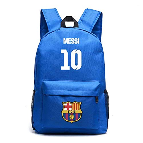 Lionel Messi Fans Backpacks Barcelona Backpacks for Outdoor,Travel Blue One Size
