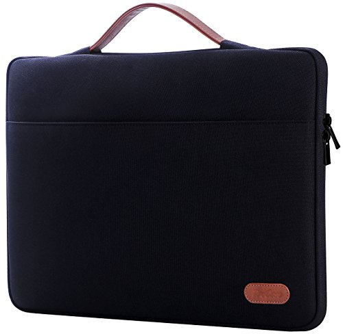 ProCase 14-15.6 Inch Laptop Sleeve Case Protective Bag, Ultrabook Notebook Carrying Case Handbag for MacBook Pro 16' / 14' 15' 15.6' Dell Lenovo HP Asus Acer Samsung Sony Chromebook Computer –Black