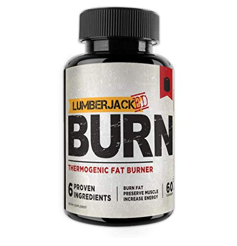 LUMBERJACKED Burn by Kodiak Supplements- Thermogenic Fat Burner - Preserve Muscle, Boost Energy, Improve Focus, Burn Fat - Acetyl L-Carnitine, Green Tea Extract - 60 Capsules