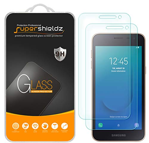 (2 Pack) Supershieldz for Samsung Galaxy J2 Core and Galaxy J2 (MetroPCS) Tempered Glass Screen Protector, 0.33mm, Anti Scratch, Bubble Free