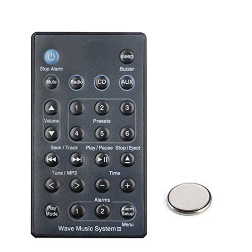 Replacement for Bose Wave Music System III Audio System Remote Control