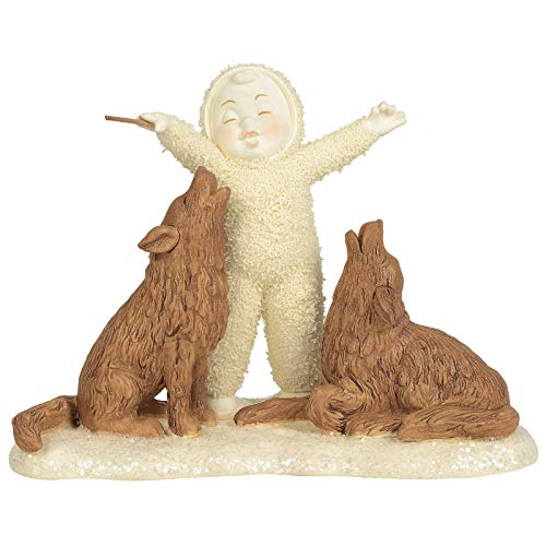 Department 56 Snowbabies Peaceful Kingdom and They Will Sing Figurine, 4.5 Inch, Multicolor