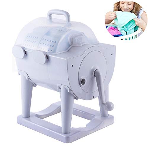Portable washing machine, Non-electric manual washing machine with dryer, Hand-cranked ecological mini washing machine, Compact washing and dehydrating washing machine, Camping washing machine