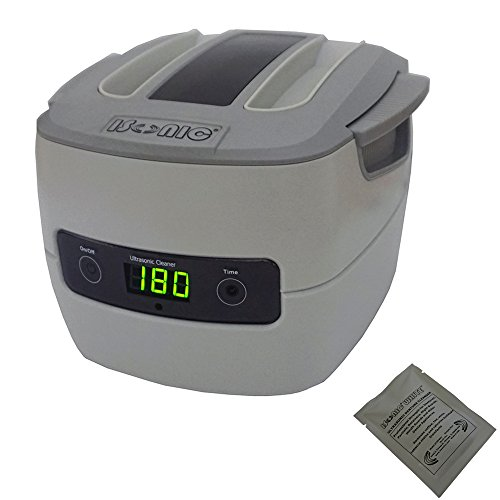 iSonic P4801+2TSP Commercial Ultrasonic Cleaner, 1.5Qt/1.4L, Plastic Basket, 110V (NOT for c-Pap, Choose P4821-CPAP, P4831-CPAP, P4862-CPAP Instead)