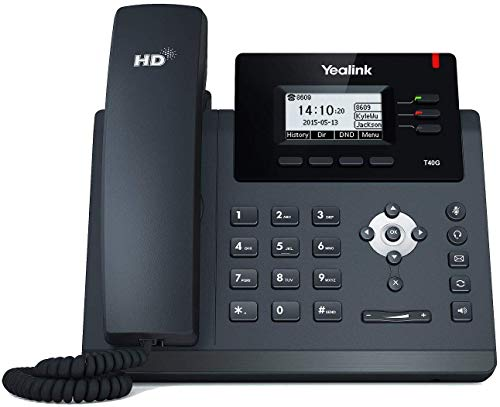Yealink SIP-T40G IP Phone 3-Lines HD Voice w/ PS5V1200US Power Supply 5V