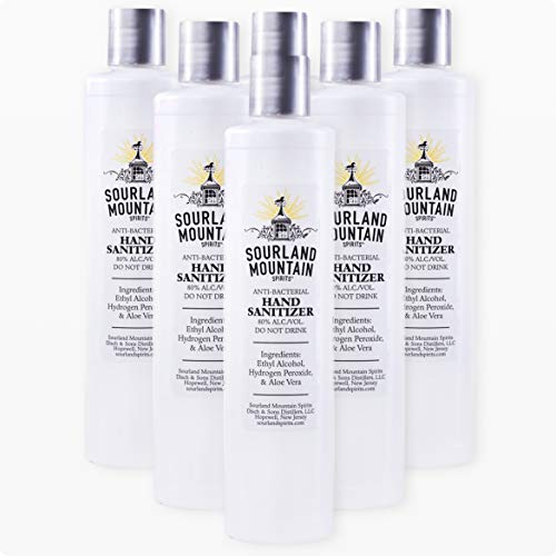 Sourland Mountain Spirits Hydrogen Peroxide & Aloe Vera Liquid Hand Sanitizer, 10 Ounce (Pack of 6)