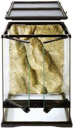 Exo Terra Glass Terrarium Kit, for Reptiles and Amphibians, Mini Tall, 12 x 12 x 18 inches, PT2602A1