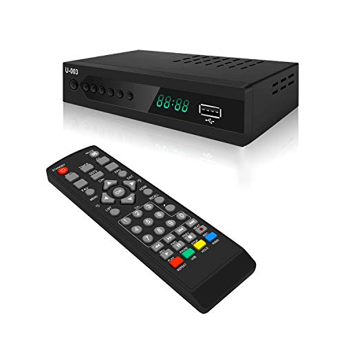 ATSC Digital TV Converter Box - UBISHENG U-003 Set Top Box for Analog HDTV 1080P TV Box with TV Tuner, Time Shift, EPG, PVR Recording/Playback, Media Player, HDMI, Timer Setting, QAM Tuner, Freeview