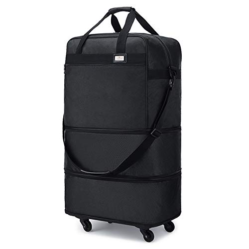 Ailouis Rolling Luggage Foldable Duffel Carry-on Bag For Travel Suitcase